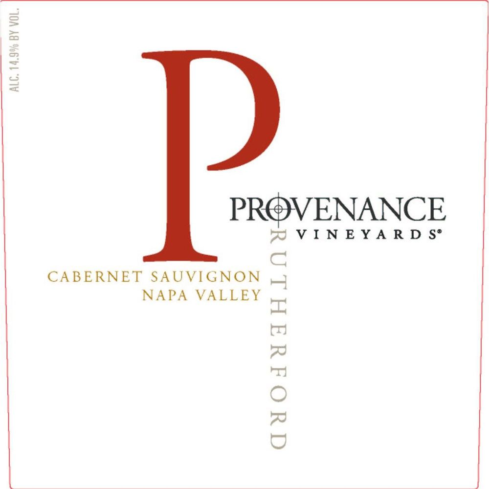 Provenance Vineyards Rutherford Cabernet Sauvignon 2015 Front Label