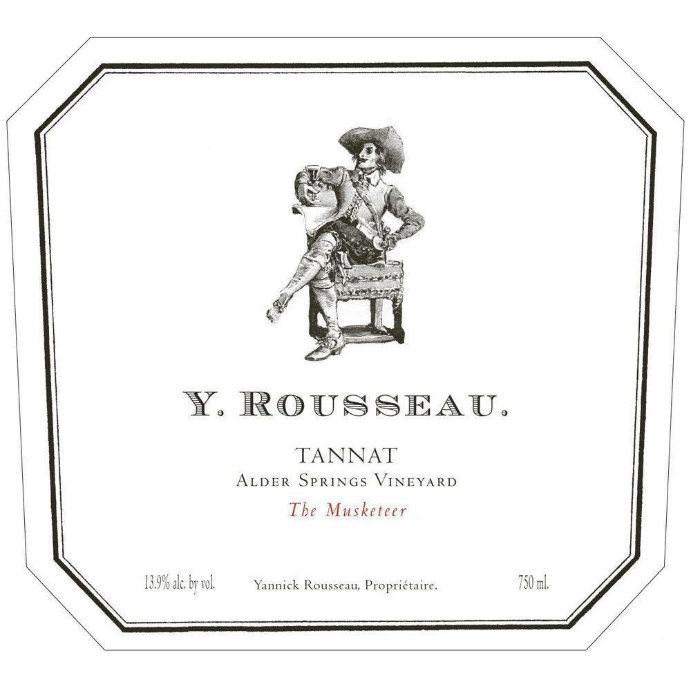 Y. Rousseau The Musketeer Alder Springs Vineyard Tannat 2013 Front Label