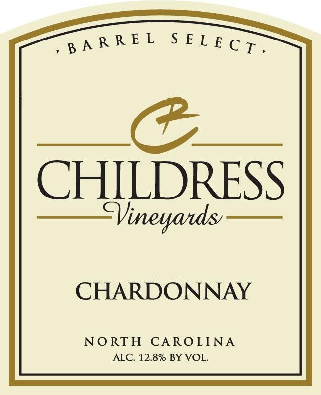 Childress Winery & Vineyards Chardonnay 2014 Front Label