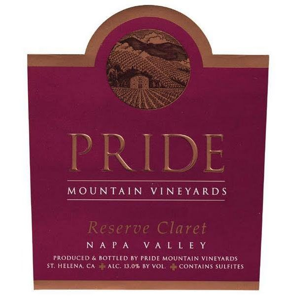 Pride Mountain Vineyards Reserve Claret 1999 Front Label