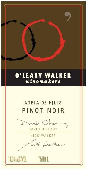 O'Leary Walker Wines Adelaide Hills Pinot Noir 2007 Front Label