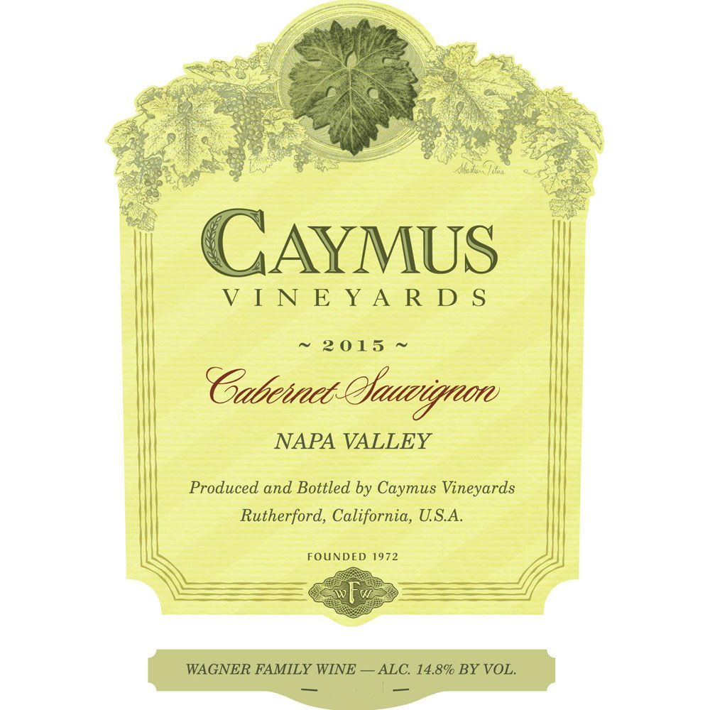 Caymus Napa Valley Cabernet Sauvignon (3 Liter Bottle) 2015 Front Label