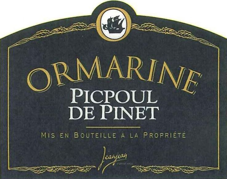 Ormarine Winery Picpoul de Pinet 2014 Front Label