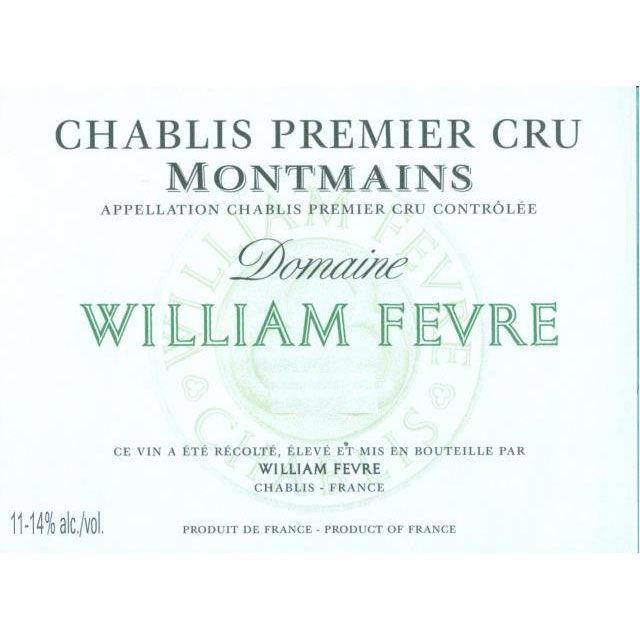 William Fevre Chablis Montmains Premier Cru (375ML half-bottle) 2015 Front Label