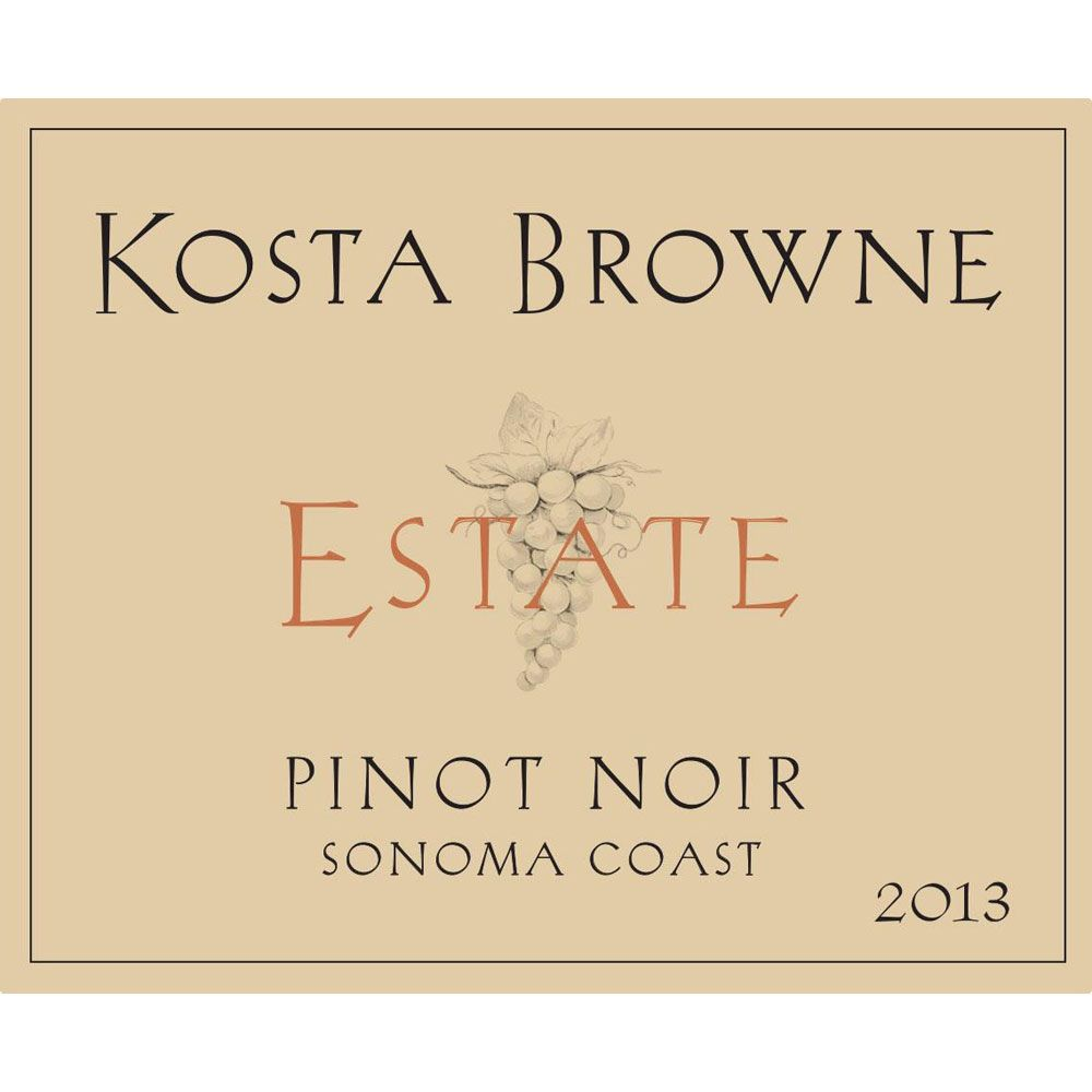 Kosta Browne Estate Pinot Noir 2013 Front Label