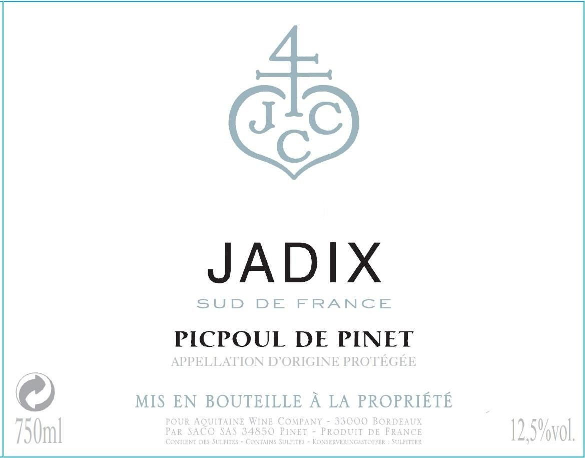 Ormarine Winery Picpoul de Pinet Jadix 2014 Front Label