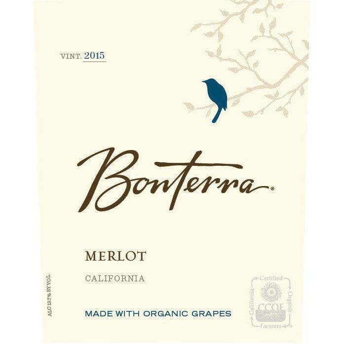 Bonterra Organically Grown Merlot 2015 Front Label