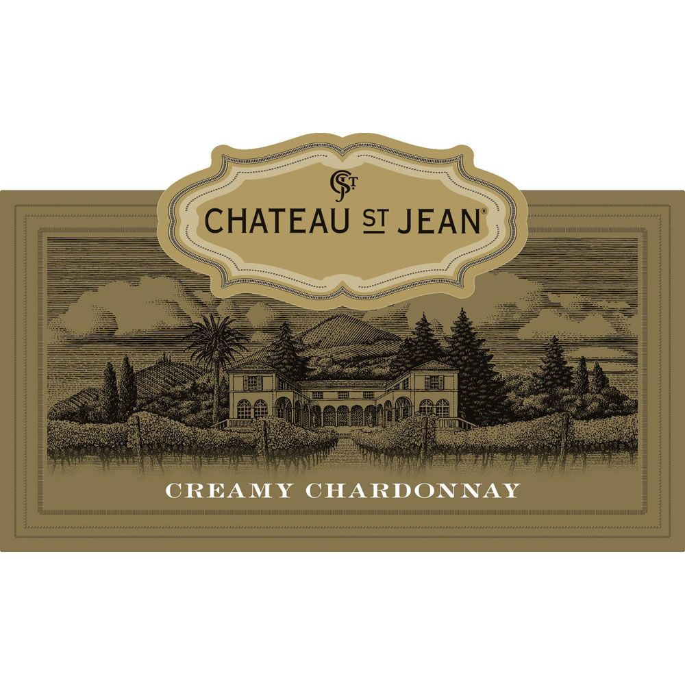 Chateau St. Jean Creamy Chardonnay 2015 Front Label