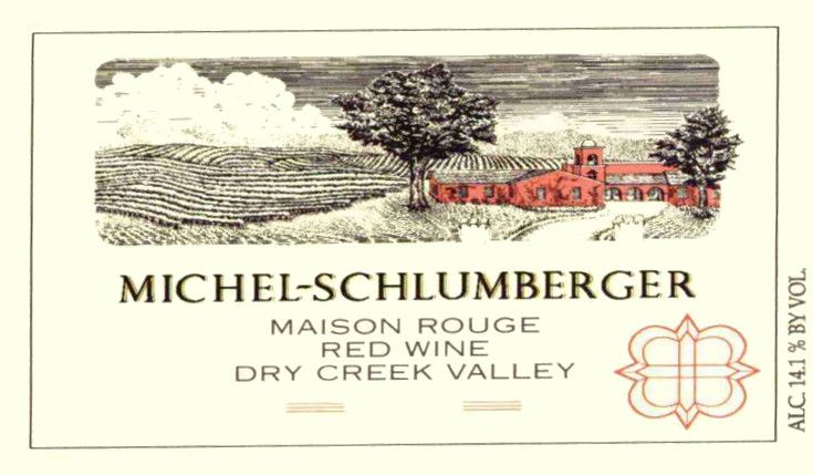 Michel-Schlumberger Maison Rouge 2004 Front Label