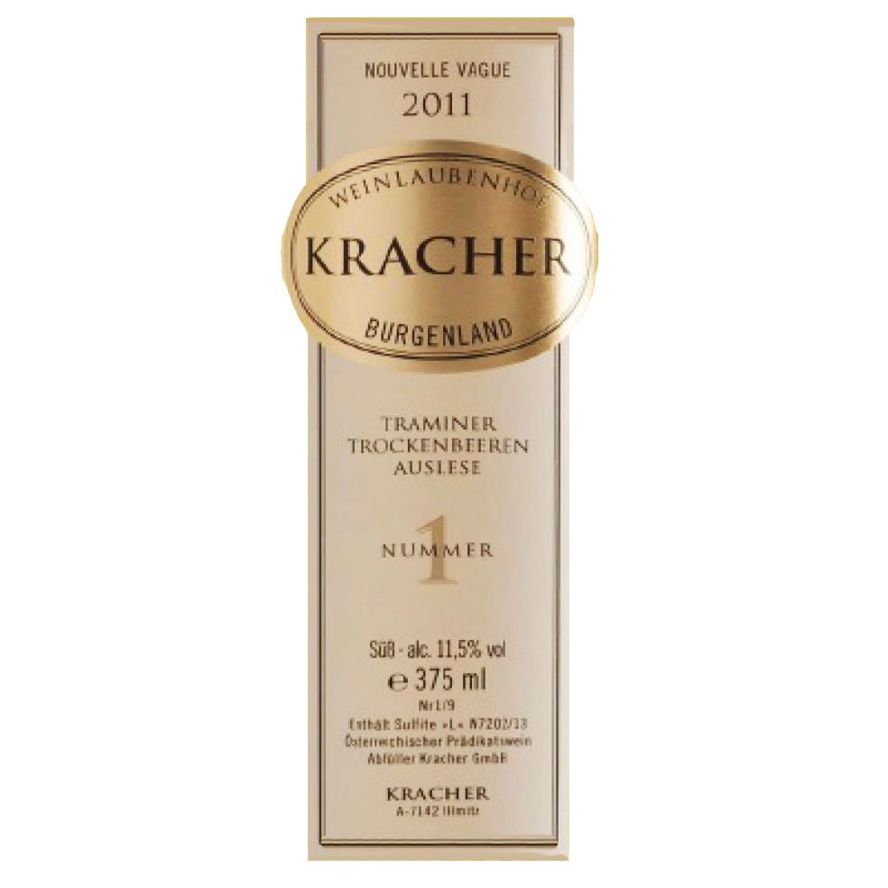 Kracher Traminer TBA Nouvelle Vague No. 1 (375ML) 2011 Front Label
