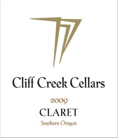 Cliff Creek winery Cellars Claret 2009 Front Label