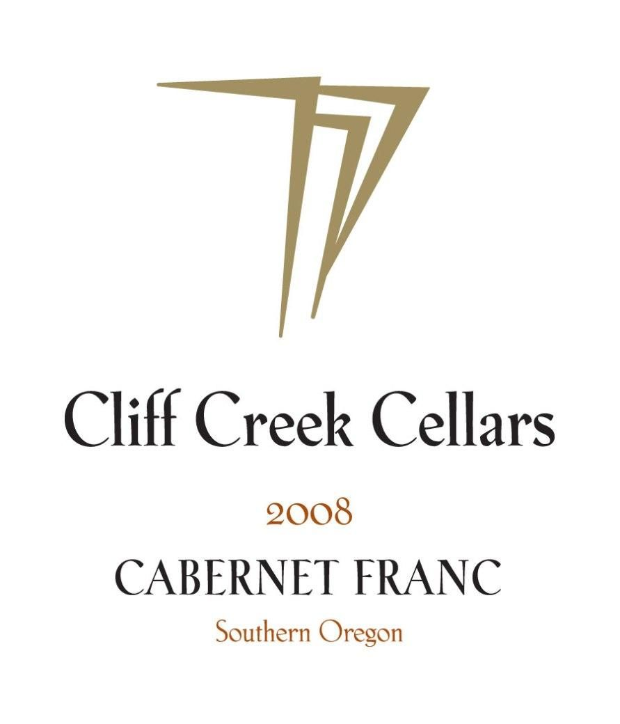 Cliff Creek winery Cellars Cabernet Franc 2008 Front Label