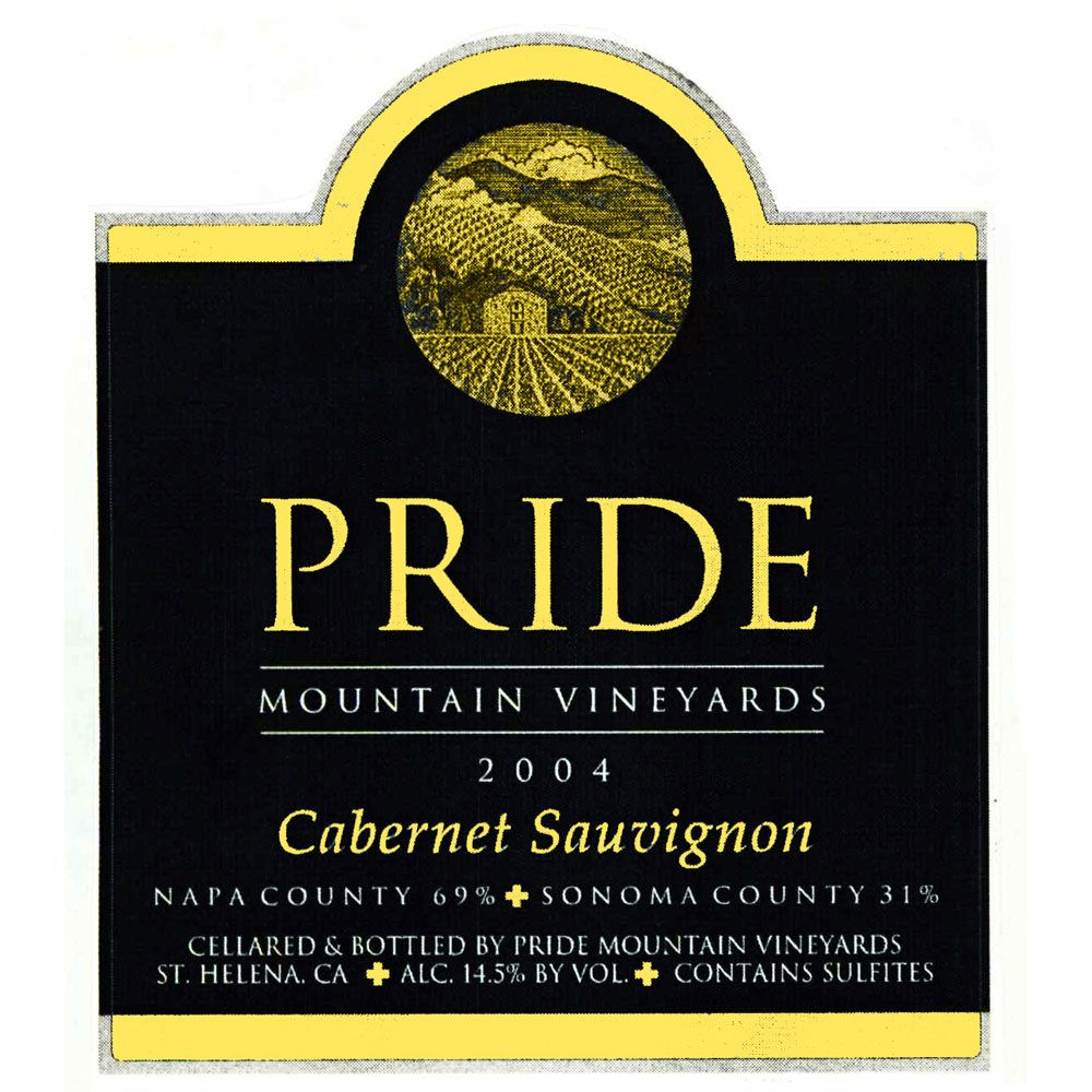 Pride Mountain Vineyards Cabernet Sauvignon (1.5L Magnum - signs of seepage) 2004 Front Label