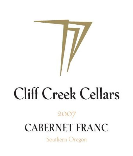 Cliff Creek winery Cellars Cabernet Franc 2007 Front Label