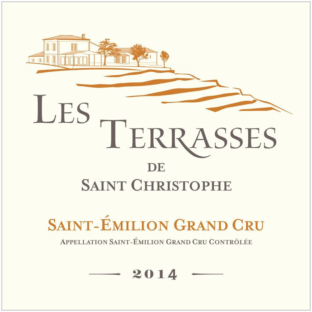 Tour Saint Christophe Les Terrasses de Saint Christophe 2014 Front Label