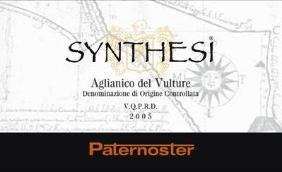 Paternoster Aglianico del Vulture Synthesi 2005 Front Label