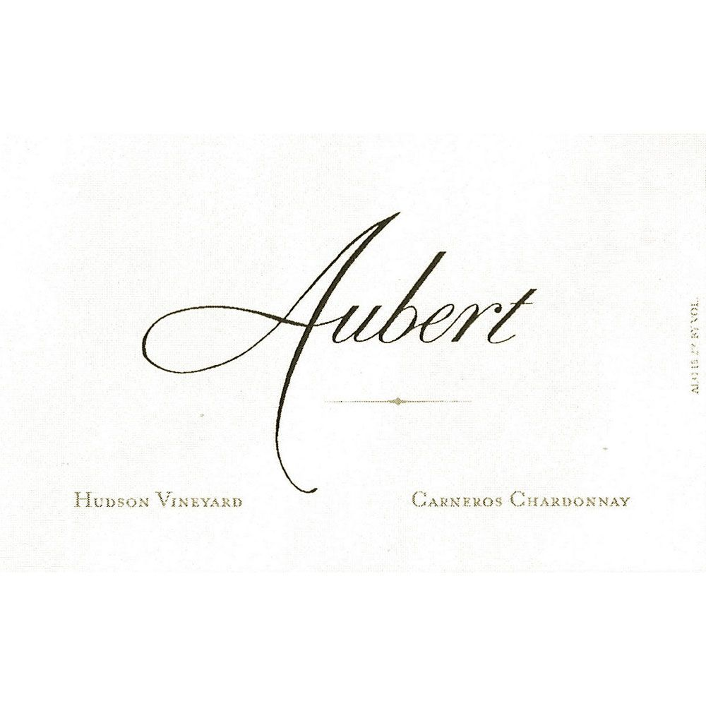 Aubert Hudson Vineyard Chardonnay 2015 Front Label