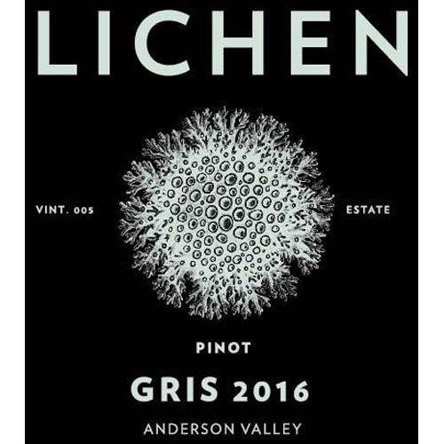 Lichen Pinot Gris 2016 Front Label