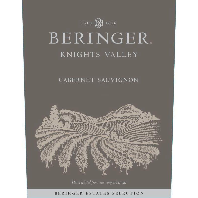 Beringer Knights Valley Cabernet Sauvignon 2015 Front Label