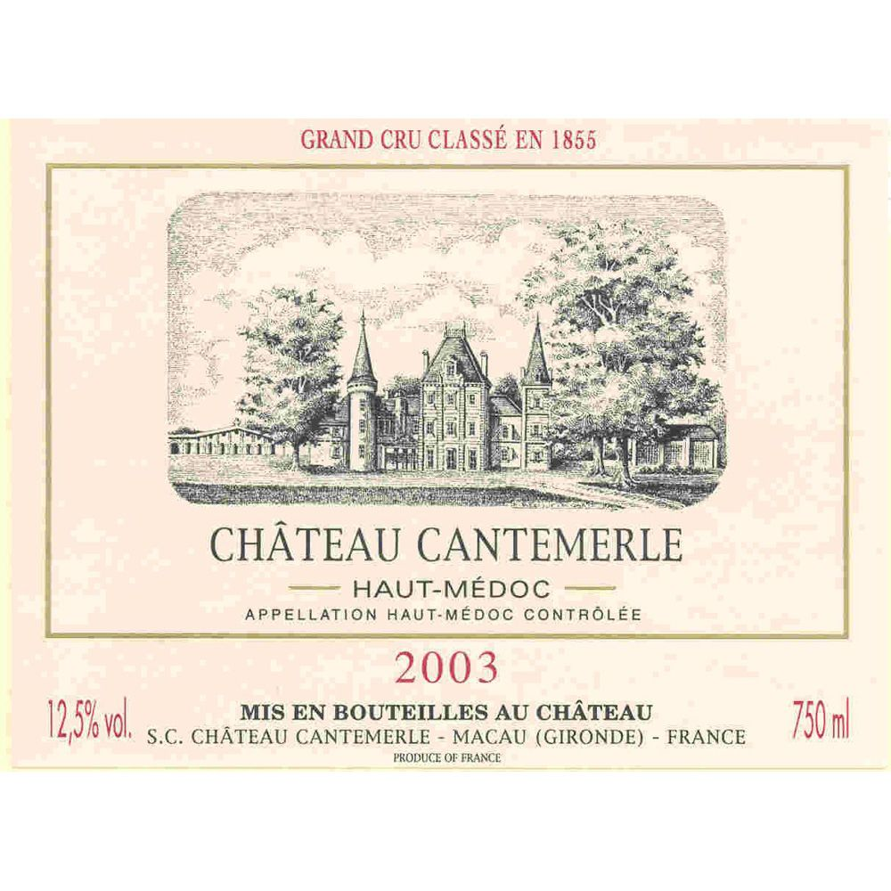 Chateau Cantemerle  2003 Front Label