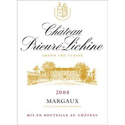 Chateau Prieure-Lichine  2008 Front Label