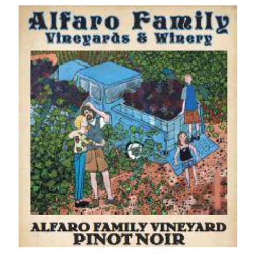 Alfaro Family Estate Pinot Noir (375ML half-bottle) 2016 Front Label