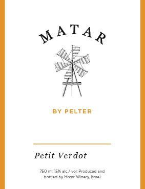 Matar by Pelter Petit Verdot 2014 Front Label