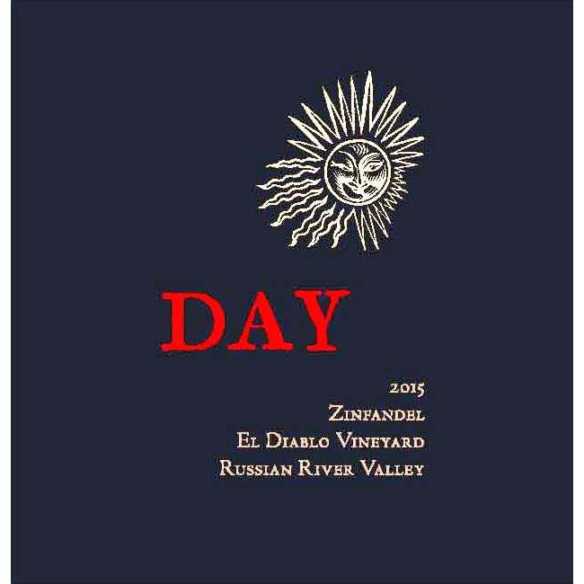 Day El Diablo Vineyard Zinfandel 2015 Front Label