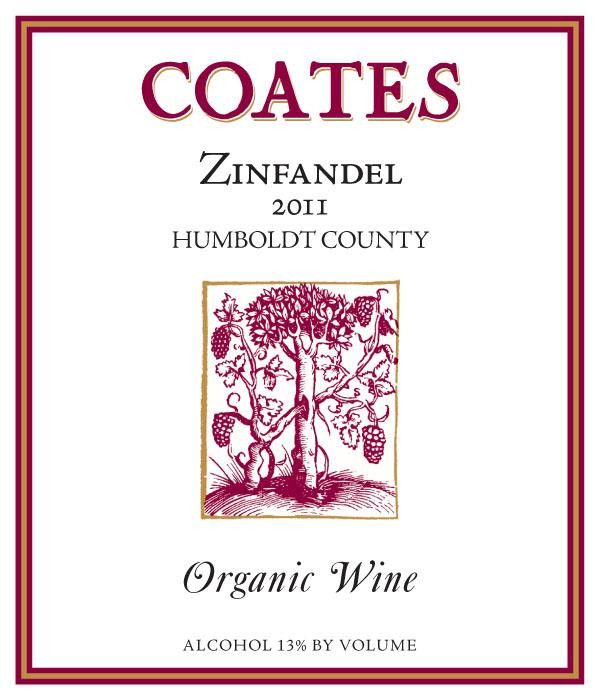 Coates Vineyards Organic Zinfandel 2011 Front Label