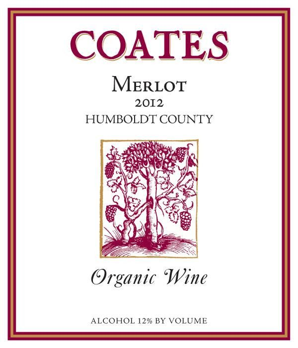 Coates Vineyards Organic Merlot 2012 Front Label