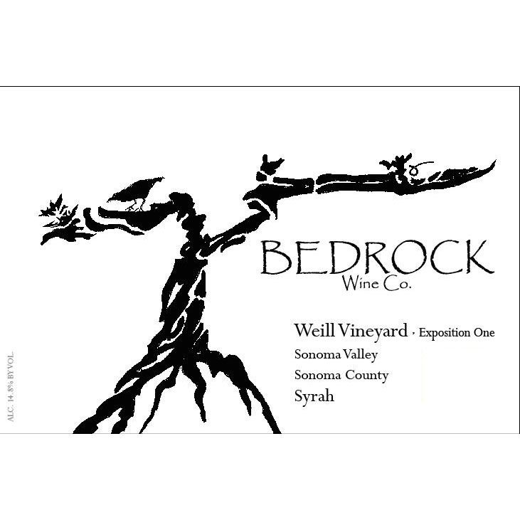 Bedrock Wine Company Weill Vineyard Syrah Exposition 1 2013 Front Label