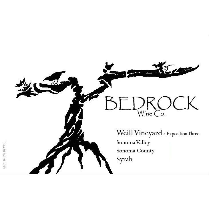 Bedrock Wine Company Weill Vineyard Syrah Exposition 3 2013 Front Label