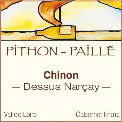 Pithon-Paille Chinon Dessus Narcay 2013 Front Label