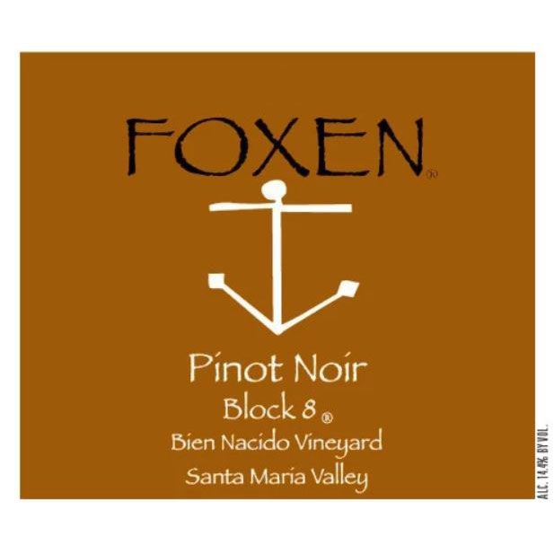 Foxen Bien Nacido Block Eight Pinot Noir 2014 Front Label