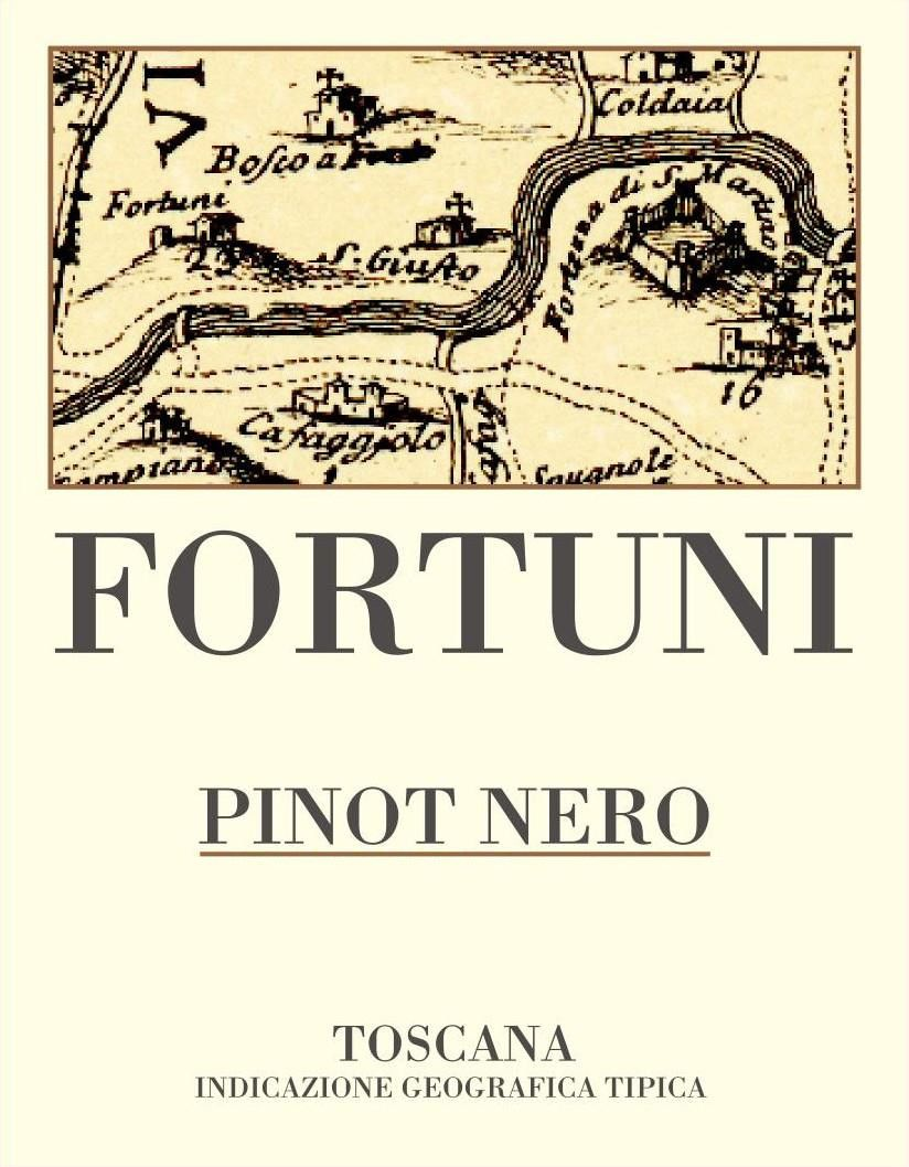 Podere Fortuna Toscana Fortuni Pinot Nero 2006 Front Label