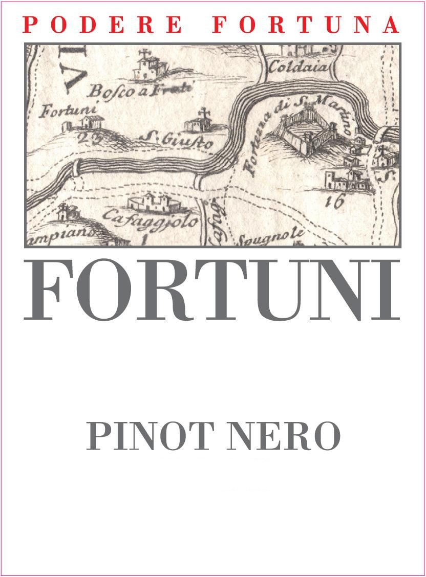 Podere Fortuna Toscana Fortuni Pinot Nero 2011 Front Label