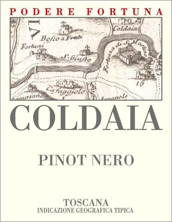 Podere Fortuna Toscana Coldaia Pinot Nero 2011 Front Label