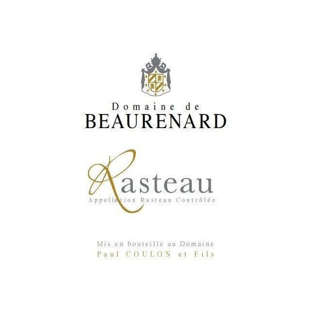 Domaine de Beaurenard Rasteau Cotes du Rhone Villages 2016 Front Label