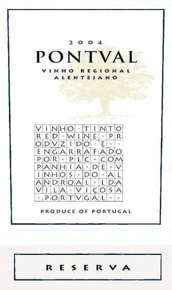 Pontval Wines Reserva 2004 Front Label