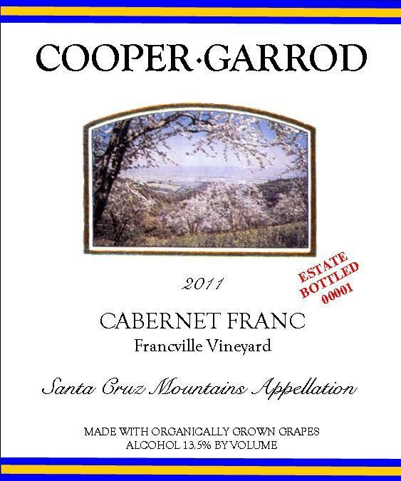 Cooper-Garrod Estate Vineyards Francville Vineyard Cabernet Franc 2011 Front Label