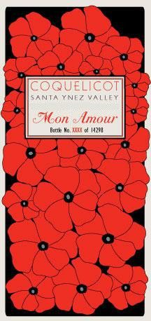 Coquelicot Estate Vineyard Mon Amour 2011 Front Label