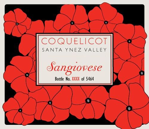 Coquelicot Estate Vineyard Sangiovese 2011 Front Label
