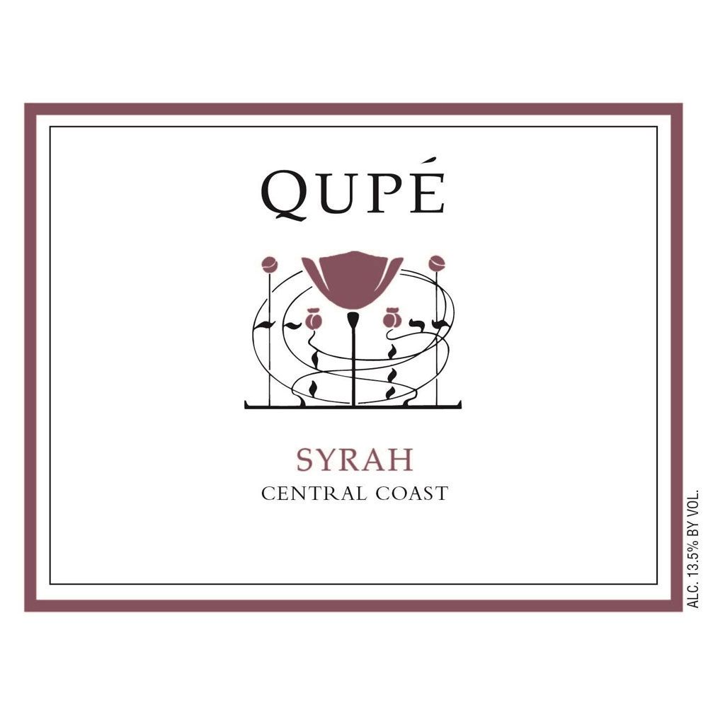 Qupe Central Coast Syrah 2016 Front Label