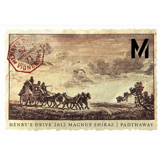 Henry's Drive Magnus Shiraz 2012 Front Label