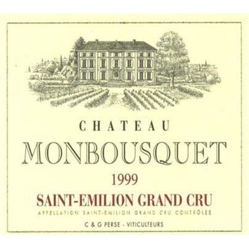 Chateau Monbousquet (375ml half bottle) 1999 Front Label