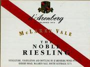 d'Arenberg Noble Riesling (half-bottle) 1995 Front Label
