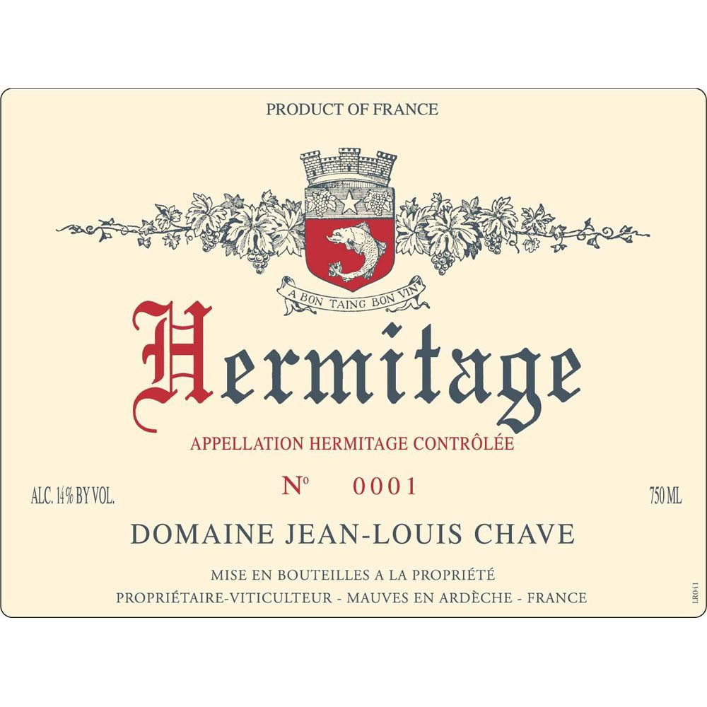 Jean-Louis Chave Hermitage Blanc 2000 Front Label