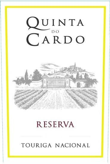 Quinta do Cardo Touriga Nacional Reserva 2012 Front Label