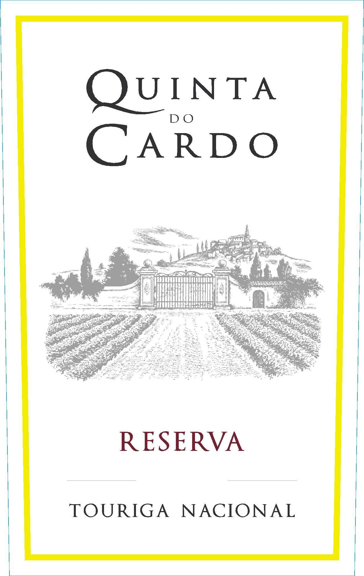 Quinta do Cardo Touriga Nacional Reserva 2010 Front Label