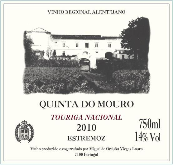 Quinta do Mouro Touriga Nacional 2010 Front Label